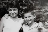 Siblings Ludmila and Radslav Švéda in 1959