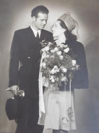 Wedding photo of Václav and Ludmila Švéda