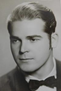 Graduation photo of her father Václav Švéda from 1945