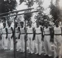 Father Václav Švéda on the far left