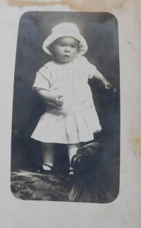 Václav Švéda as a child