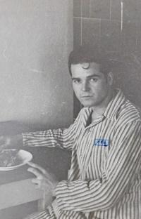 Václav Švéda in 1946. Probably in the military hospital in Soběslav