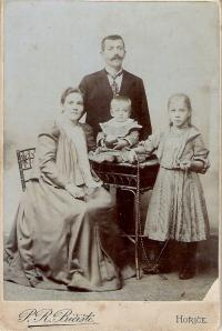 family of grandparents Vratny - on the right mother