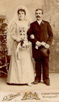 wedding of grandparents in Vienna