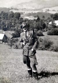 Father H.Babor, Vladimir Babor in forestry uniform