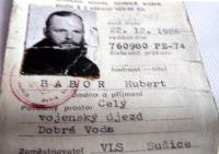 Authorization for H.Babor from the Forestry Administration of Sušice to enter the Military District Dobrá Voda