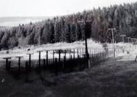 The Iron Curtain, as H.Babor photographed during his walks along the Šumava forests