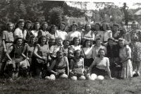 Marie in the Czech school (first row, the girl in the middle)