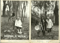 Photograph from 1982 that Bohumil Hrabal dedicated to the Aschers and guests of Hájenka.