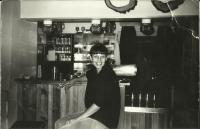 Mrs. Hana Ascherlová in the Hájenka pub