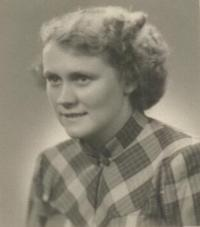 Hildegarda Pawlusová in the 1950s