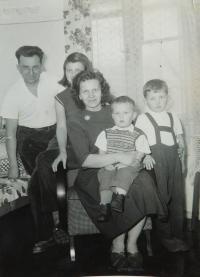 Husband Krejč with children