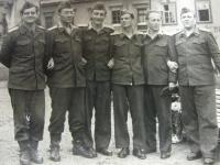 Military Training in 1956 (first from the left)
