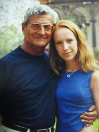 With his granddaughter in 2006