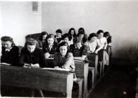 Magdalena Lanska at the Primary Grammar School (first bench, girl on the right)