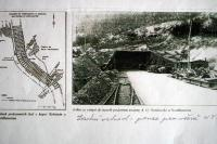 The tunnel in the Kohnstein Mountain for the production of V-2 rockets. Nearby concentration camp Dora