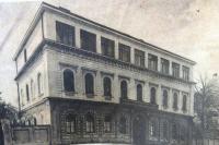 Budova židovského gymnázia v Brně. 30. léta 20. století.