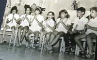 Flétnový soubor v kibucu Matzuva, který pracoval pod vedením Chavy Drachmann-Doron . 1970.