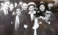 Wedding photograph, Antonín´s mother second from left. Prague November 1952