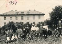 Residents of the barracks in Těchotín, 1957
