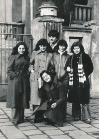 Witness and his Greek girlfriend, 1970s in Ostrava