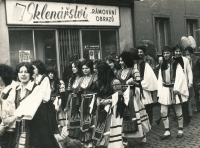 Witness organized several folk festivals; photo from Jeseník, 1970s
