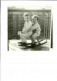 Alexandra with her brother Ivan