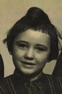 Zdenka Vévodová at approx. five years of age