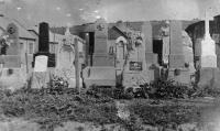 Martin Stehlíček's tombstones in storage