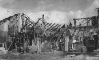 Martin Stehlíček's stonemasonry business after bombardment (April 1945)