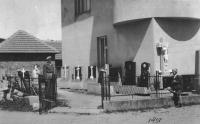 The Stehlíček house and stonemasory business in Bojkovice (1950)