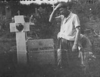 Zdenka Vévodová's father at work