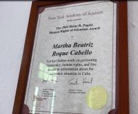 Martha Beatriz Roque Cabello, NY Academy of Science