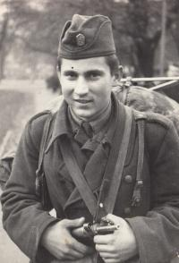 Vaclav Andres probably in 1963, military servise