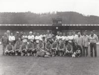 Footbal match of REAL Ústí nad Orlicí and Youth League, 1985
