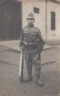 Vaclav Andres senior ready to go to the war, probably in 1914