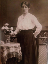 His mother, Emílie, in 1925