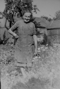 Grandmother Hedvika Petrikova in Hradecna