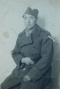 Father Milan Šobota probably in the Yugoslavian army