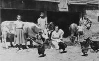 Father's family in the village of Laktaši in Yugoslavia