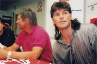 Richard as coach of Jágr Team, exhibition matches during summer with NHL stars, 13th August 97