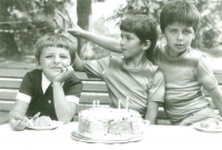 Son Vojta's birthday, picture that Milan Beran's wife sent him to prison