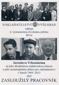 Vrbenský Jaroslav - nakladatelství Vyšehrad