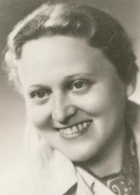 Zdena Mašínová Sr. (the witness's mother), 1945
