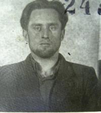 Pavel Hubačka as a prisoner.