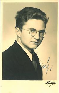 Jaromír Lisý as a student