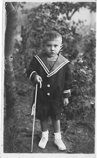 Three year old Jaromír Lisý
