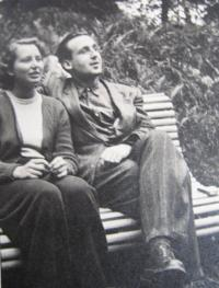 Eva Mádrová with husband