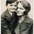 Zdeněk Hubáček with his mother in the 1930s