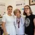 Rostyslava Fedak (center), Khrystyna Rutar (left), Hanna Zaremba-Kosovych (right) at the Museum of the History of the Ukrainian Women's Movement (2020, Lviv)